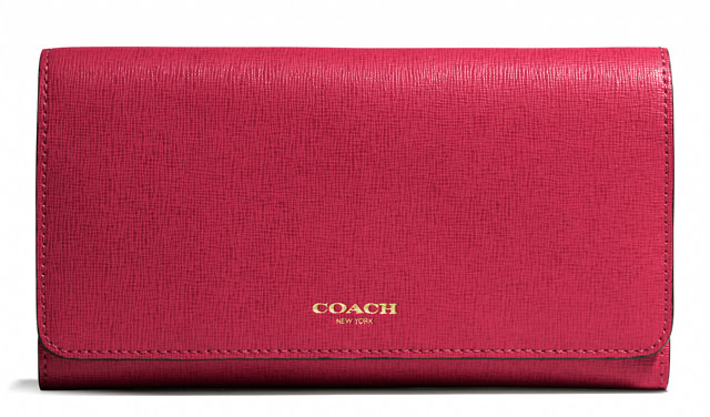 Coach Saffiano Checkbook Wallet
