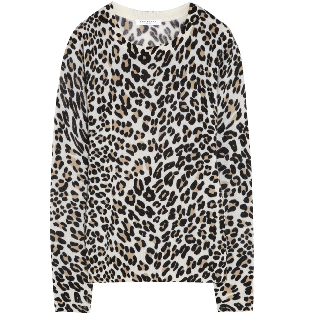 EQUIPMENT Shane leopard-print cashmere sweater