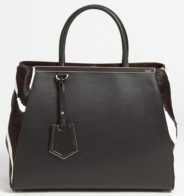 Fendi 2Jours Calf Hair Shopper