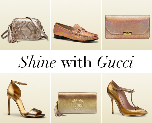 Gucci Metallic Handbags and Shoes copy