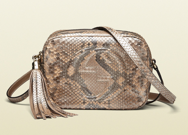 Gucci Soho Metallic Python Disco Bag