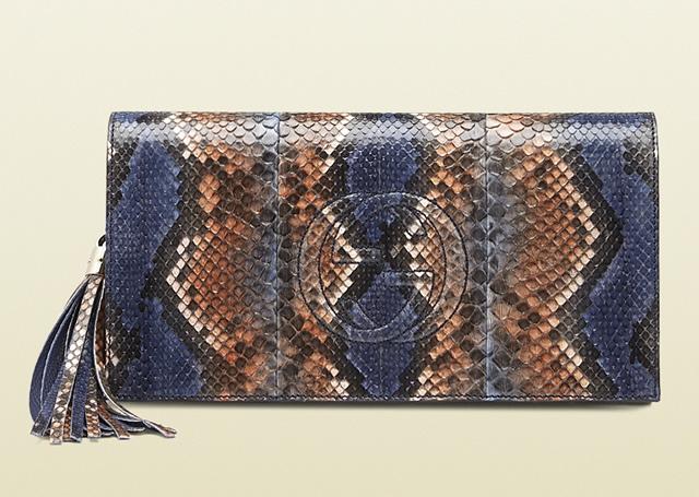 Gucci Soho Python Clutch
