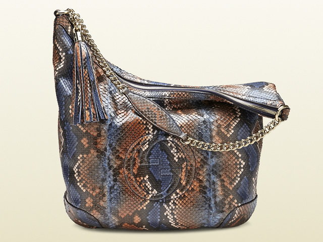 Gucci Soho Python Shoulder Bag