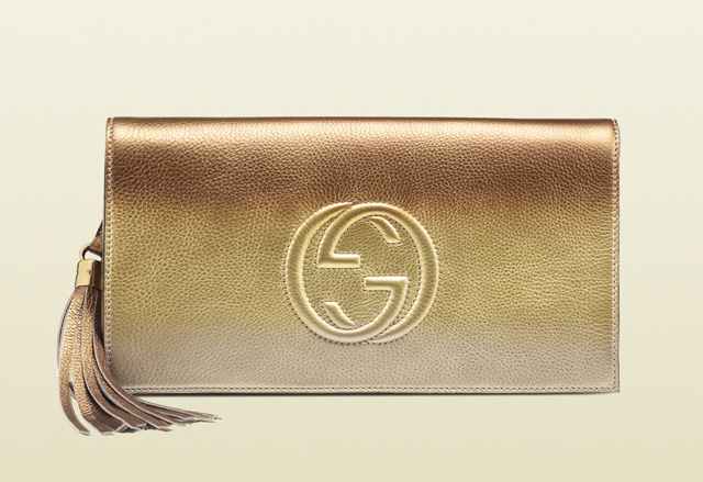 Gucci Soho Shaded Leather Clutch