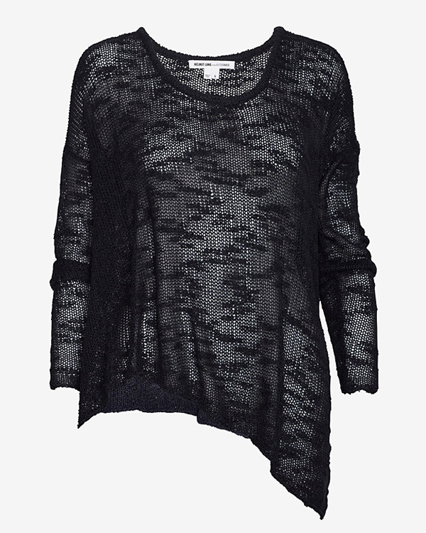 Helmut Lang Asymmetrical Irregular Silk Sweater