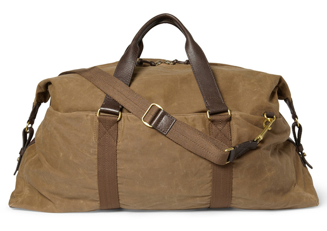J.Crew Abingdon Canvas and Leather Holdall