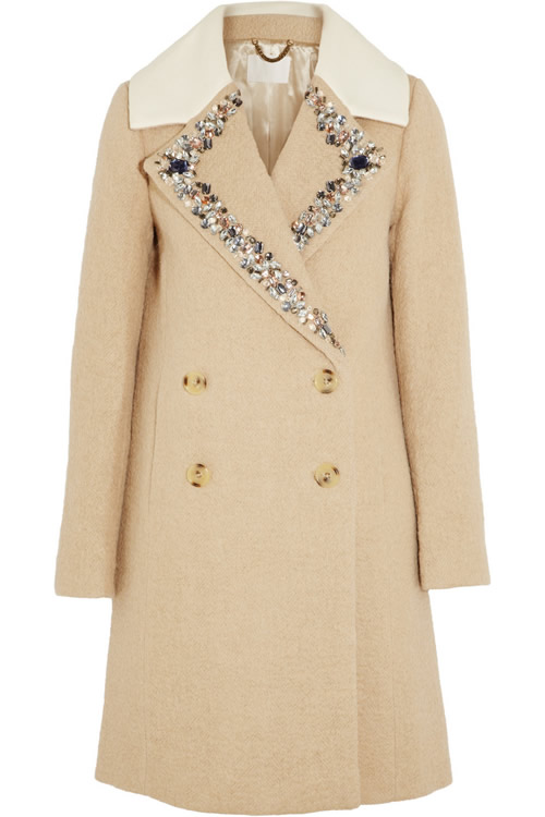 JCrew Embellished Wool Coat