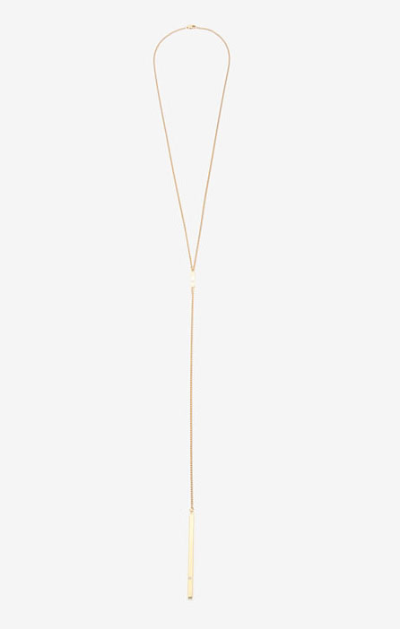 Jennifer Zeuner Hanging Bar Necklace with Diamonds