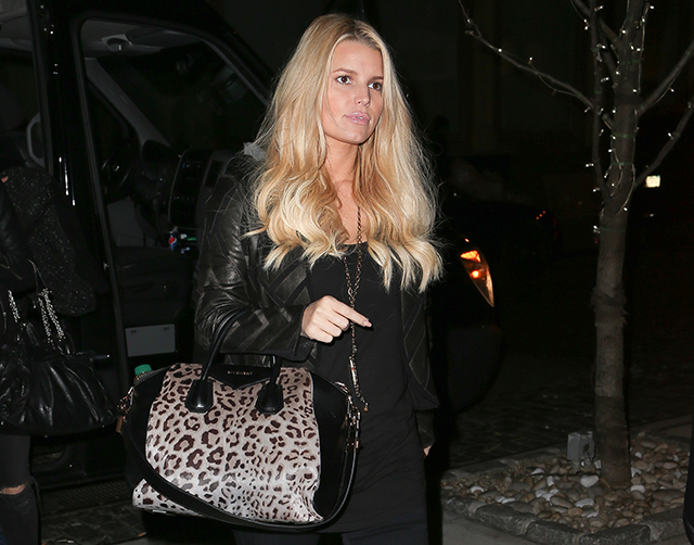 Jessica Simpson carries a leopard Givenchy bag in NYC (5)