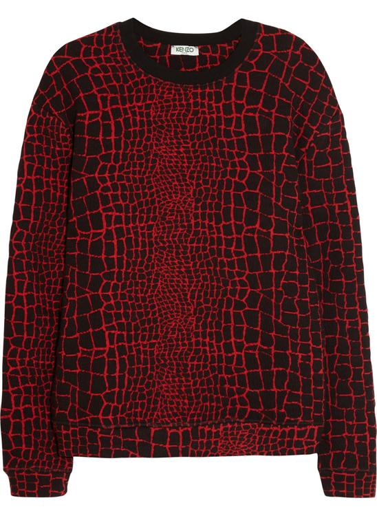 Kenzo Jacquard Reptile Sweatshirt