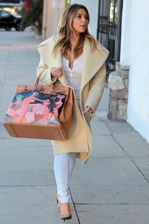 Kim Kardashian Painted Hermes Bag 3