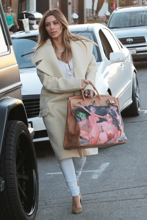Kim Kardashian Painted Hermes Bag 7