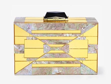 Kotur Gold Shell Minaudiere