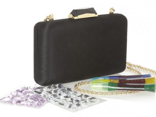 Kotur Make Your Own Minaudiere Satin Clutch