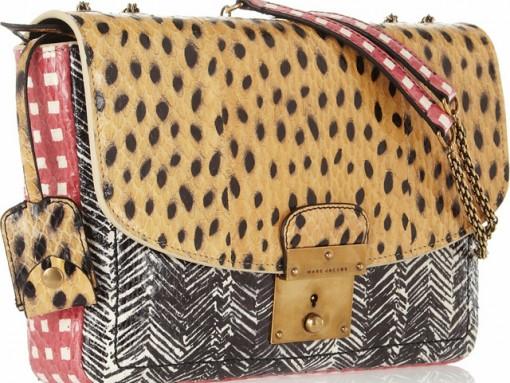 Marc Jacobs Polly Mini Glosded Elaphe and Leather Shoulder Bag.jpg