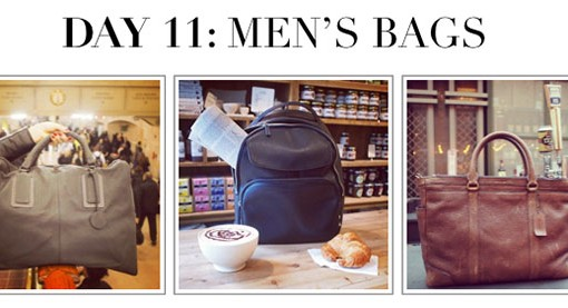 #12DaysofHandbags Day 11: Men's Bags