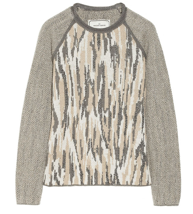 Malinkaa Metallic Jacquard-Knit Sweater