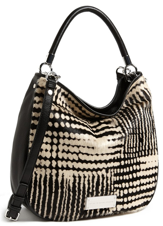 Marc by Marc Jacobs Too Hot To Handle Blurred Dot Calf Hair Shoulder Bag