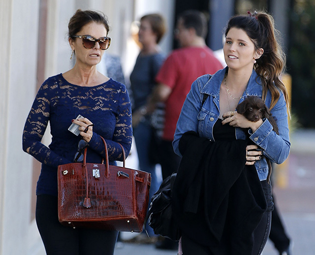Maria Shriver carries a burgundy crocodile Birkin (5)