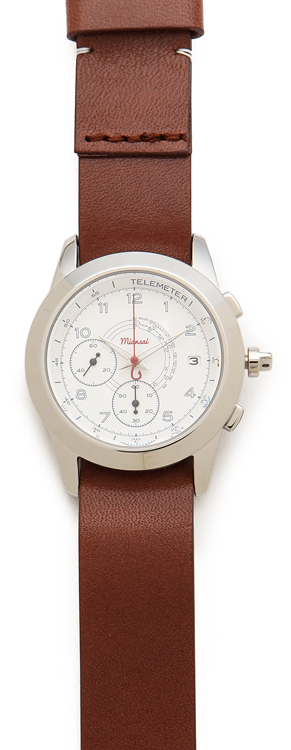 Miansai M2 White Watch with Leather Band