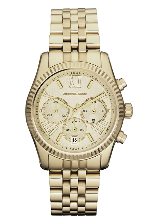 Michael Kors Lexington Golden Chronograph Watch