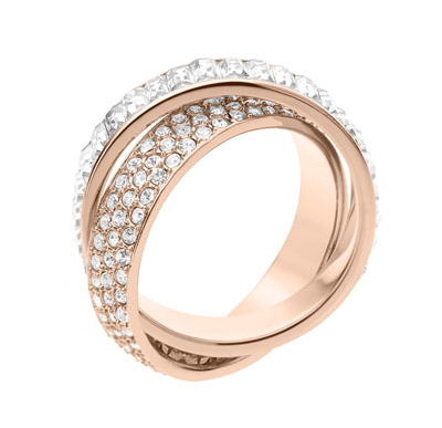 Michael Kors Pave Baguette Eternity Ring