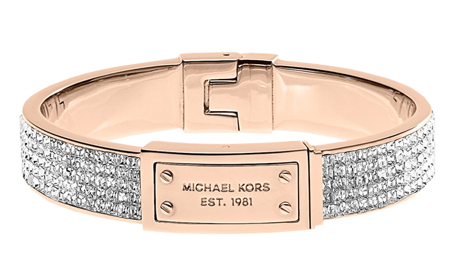 Michael Kors Pave Plaque Bangle