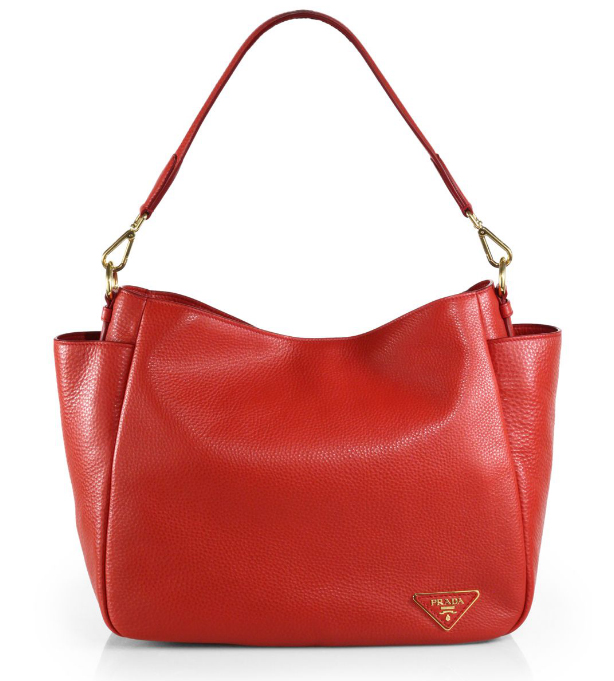 Prada Daino Side Pocket Hobo