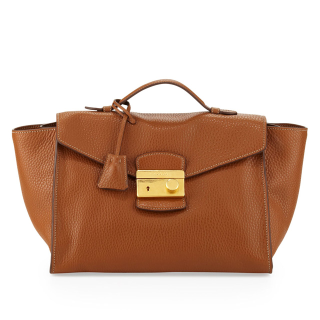 Prada Daino Twin Pocket Satchel Bag