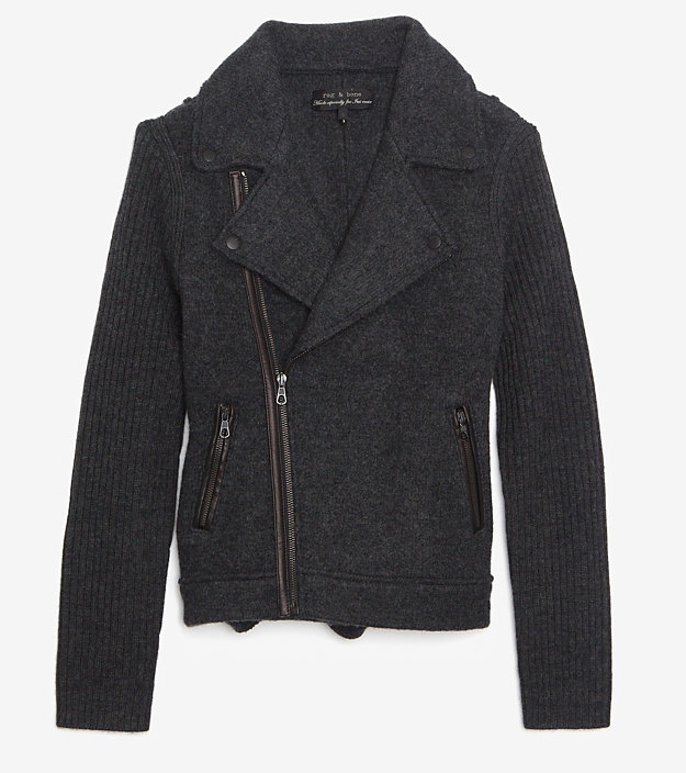 Rag and Bone Knit Moto Jacket