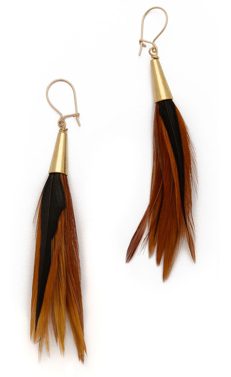 Serefina Feather Earrings