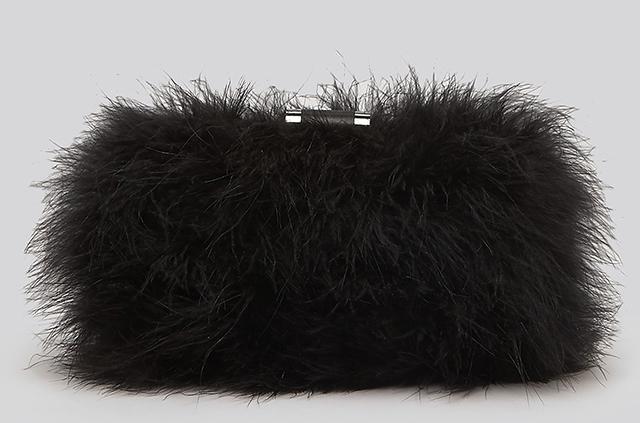 Sondra Roberts Feathers Clutch