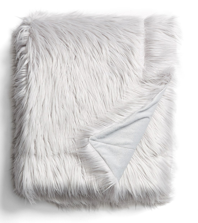Spencer N. Home Faux Fur Throw