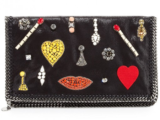 Stella McCartney Falabella Embellished Clutch