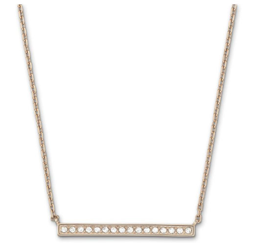 Swarovski Rose Gold Plated Vi Necklace