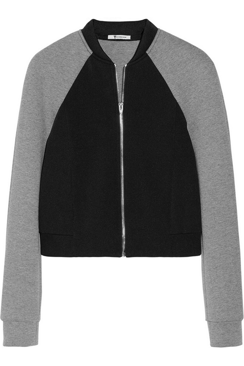 T Alexander Wang Neoprene and Jersey Bomber Jacket