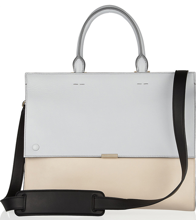 Victoria Beckham Two Tone Leather Tote