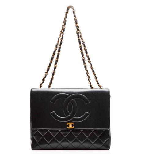 Vintage Chanel Lambskin Jumbo Coco Bag