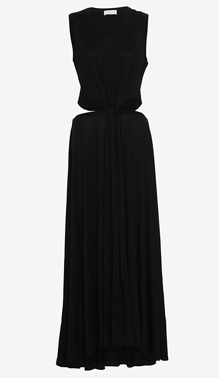 ALC Twisted Knot Open Back Maxi Dress