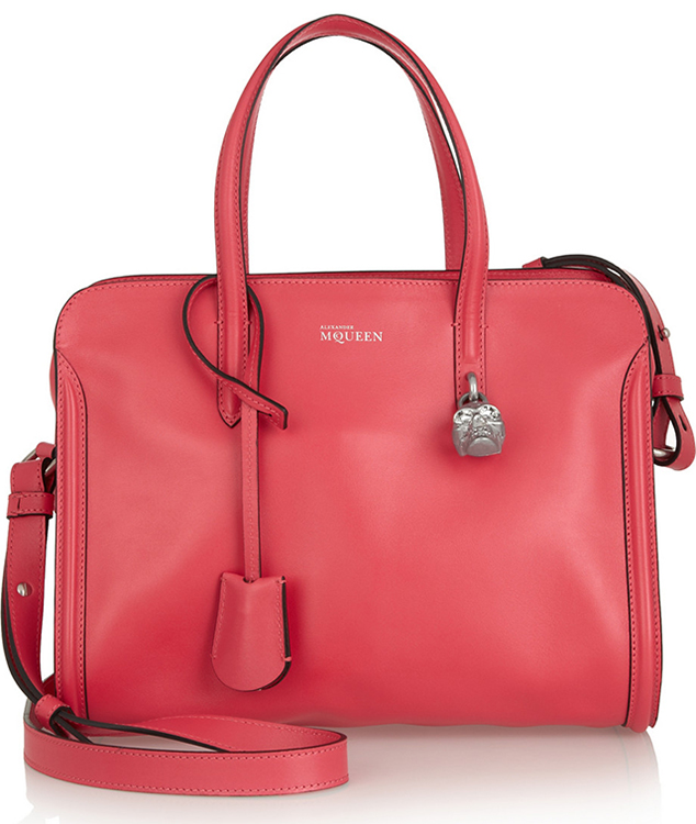 Alexander McQueen Padlock Small Leather Tote