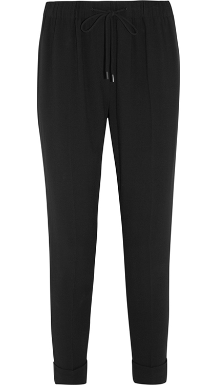 Alexander Wang Drawstring Crepe Tailored Pants