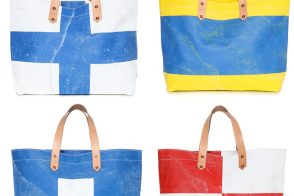Man Bag Monday: Black Point Mercantile Signal Flag Totes