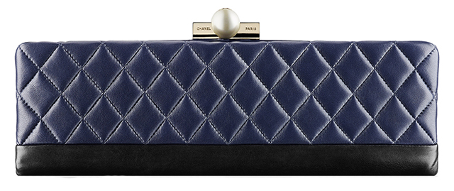 Chanel Baguette Minaudiere Blue