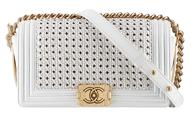 Chanel Boy Braided Flap Bag White