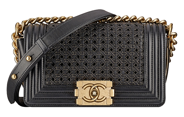 Chanel Boy Small Braided Bag Black