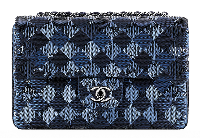 Chanel Check Sequin Flap Bag