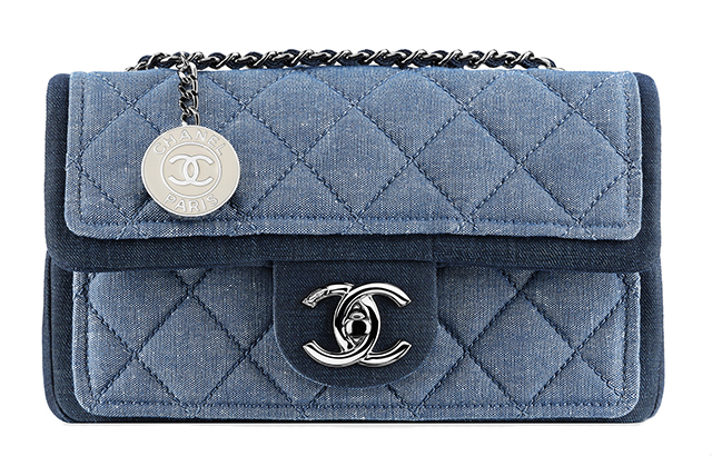 Chanel Denim Flap Bag with Medallion Light