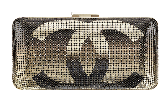 Chanel Hand-Painted CC Metallic Minaudiere