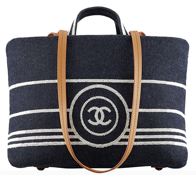 Chanel Large Denim Logo Tote