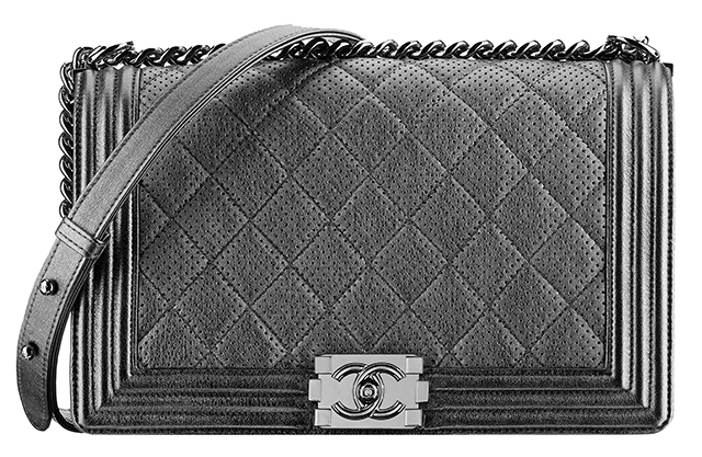 Chanel Metallic Perforated Boy Bag